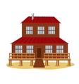 Big wooden house vector