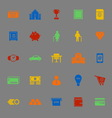 Personal financial color icons on gray background vector