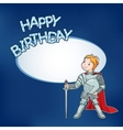 Birthday card with little knight vector