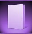 Blank book cover vector