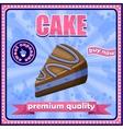 Vintage cake poster vector