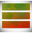Set of horizontal banners abstract background vector
