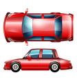 A red sedan vehicle vector