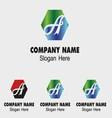 Abstract a logo design template letter a vector