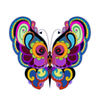 Colorful vintage butterfly vector
