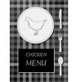 Chicken menu vector