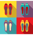 Women flat shoes vector