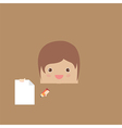 Cartoon doodle man rectangle of business vector