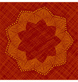 Abstract flower with nine petals vector