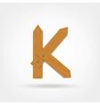 Wooden boards letter k vector