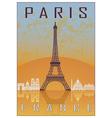 Paris vintage poster vector