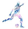 Soccer kick vector