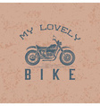 Vintage grunge motorcycle graphic design template vector