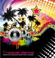 Tropical dance music flyer vector