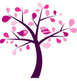 Valentines tree background vector