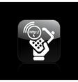Phone http icon vector