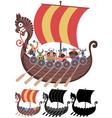 Viking ship on white vector
