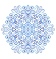 Beautiful paisley circle ornament vector