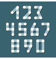 Numbers set modern style icons vector