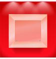 Transparent glass showcase vector