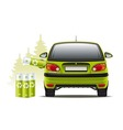 Electric car recharges vector