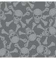 Evil skull with bones warning sign seamless vector