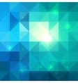 Bright abstract triangles blue background vector
