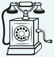 Vintage old telephone vector