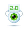 Cartoon cyber eye vector
