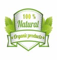 100 natural green label isolated vector