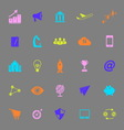 Startup business color icons on gray background vector