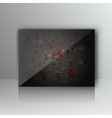Card with abstract grunge metal background vector