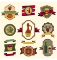 Set of wine labels badges and elements vector