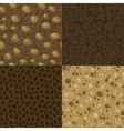 Set of seamless pattern for ground inside vector