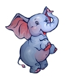 Elephant in cartoon style vector