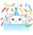 Bunny birthday vector