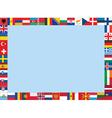 Frame made of european flags vector