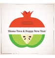 Greeting card for jewish new year rosh hashana vector