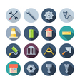 Flat design icons for construction vector