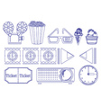 Doodle design of the things for movie marathon vector