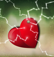 Electric heart background vector