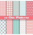Chic different seamless patterns tiling vector