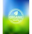 Bio organic label vector