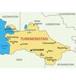 Turkmenistan - map vector