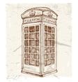 Telephone cabin vector