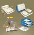 Office equipments vector
