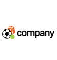 Logo of sports ball vector