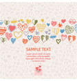 Romantic card with ornament of hearts vector