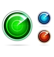 Icons for colored radar vector