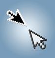 Two cursor arrows vector
